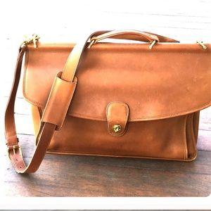 Coach Vintage tan leather metropolitan bag